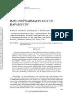 Immunopharmacology of Rapamycin