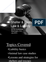 Shelter & Rescue Law & Liability
