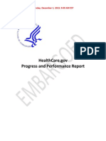 HealthCare.gov Progress Report Final