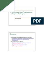 Administrasi Bagi Pembangunan Manajemen Pembangunan [Read Only]