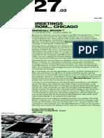 Recycle Art Agenda-chicago