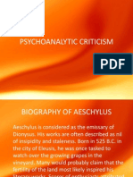 Psychoanalytic Criticism fo humanities