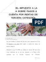 Nueva Ley Del Impto a La Renta de 3ra Categoria Marzo 2013
