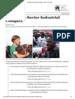 The White-Savior Industrial Complex (Teju Cole, 21Mar13) | the Atlantic