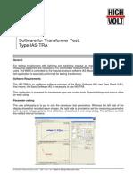 Software for Transformer Test
