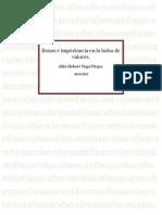 Bonos e Importancia en La Bolsa de Valores[1]