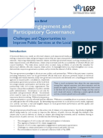 Citizen Engagement and Participatory Governance