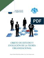 EVOLUCIÓN Y OBJETO DE ESTUDIO DE LA TEORÍA ORGANIZACIONAL - FINAL.