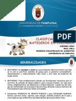 Clasifcacion de Los Matederos en Colombia