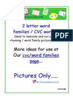 Cvc Words Pictures Only