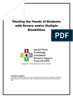 multiple disabilities strategies