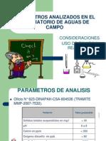 Parametros Analizados en El Lab Aguas