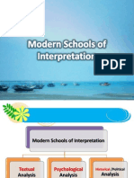 Modern Schools of Interpretation