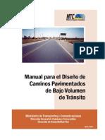 Diseño de Caminos Pavimentados de bajo Volúmen