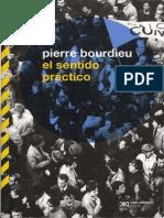 BOURDIEU, Pierre, El Sentido Practico