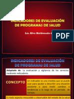 INDICADORES DE EVALUACIÓN DE PROGRAMAS DE SALUD