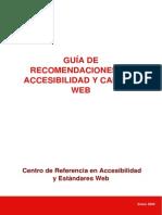 Guia de Recomendaciones de Accesibilidad y Calidad Web 2009