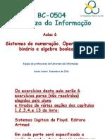 Semana 6  NI ( sistemas de numeração, algebra booleana e aplicações)
