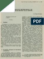 El Concepto de Metodo Social en Cuestion de Metodo de J.P Sartre
