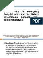 Risk Factors for Emergency Hospital Admission for DKA