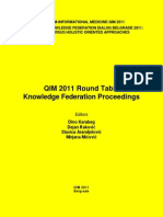 QIM 2011 KF Round Table E-Proceeings 0 Belgrad