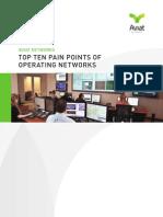 Top Ten Pain Points of Network Operators
