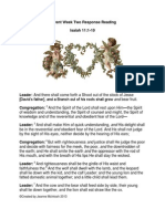 Advent Week Two Response Readings