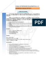 Convocatoria Congreso Nacional Matematicas