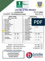 Bury Town Away FA Trophy 30.11.13
