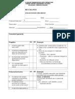Fisa Pentru Monitorizarea Procesului de Invatare