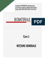 Curs 1 Notiuni Generale Biomateriale