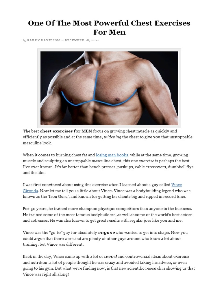 One Of The Most Powerful Chest Exercises For Menpdf