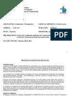 0 Programa de Licitaciones y Presupuestos UC