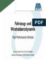 High Performance Vehicles English Aerodynamics