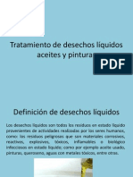 Tratamiento de desechos líquidos