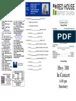 RHBC Bulletin 12/01/13