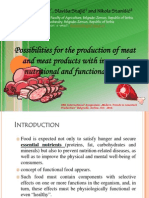 Possibilities for the Production of Meat and Meat Products With Improved Nutritional and Functional Value