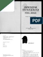 Berger Peter - Zaproszenie Do Socjologii