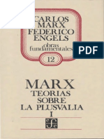 Marx, Karl - Teorías sobre la plusvalia