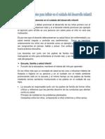 La función del docente en el cuidado del desarrollo infantil 9