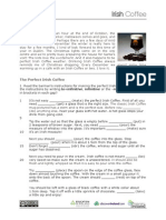 Irish Coffee Worksheet