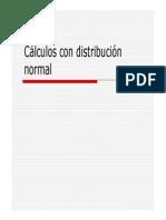Distribucion Normal Calculo (Formulas)