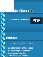 Economics of Regulation Rate of Return