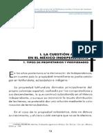La Cuestion Agraria en El Mexico Independiente
