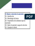selección de materiales.índice de performance