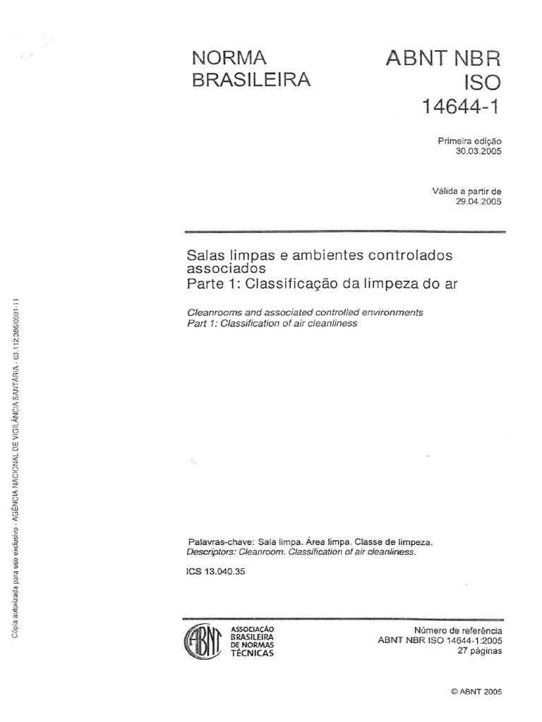 5 iso 14644-1 clean room classification and fed std 209e.