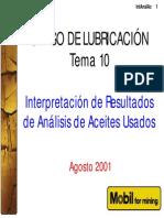 7. Interpretación de Análisis de aceites