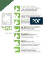 Karen X. Cheng resume for Evernote