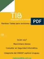 Rainbow Tables Para Revisiones de Seguridad