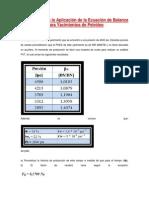 Ejercicio 4 para la Aplicación de la Ecuación de Balance de Materiales para Yacimientos de Petróleo